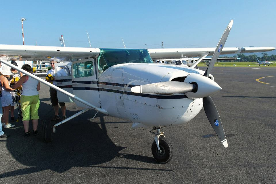 The private charter plane to Mount Yasur.