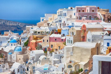 Santorini, Greece by Edward Dalmulder (Creative Commons)