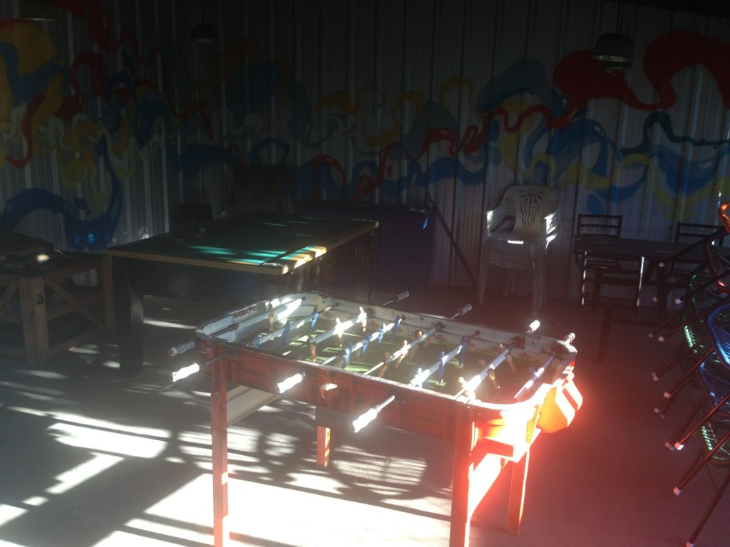 hamaca hostel fussball
