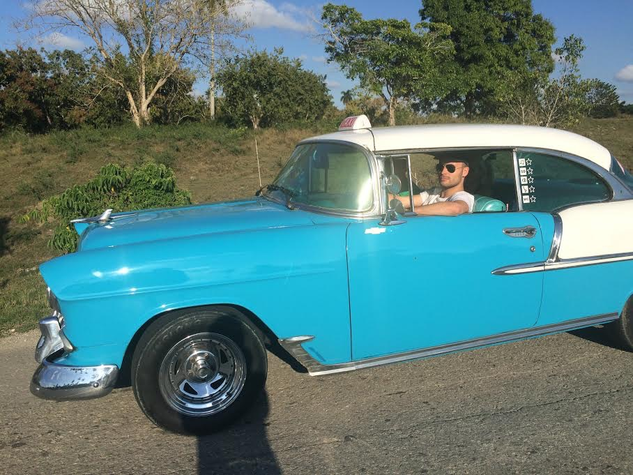 driving a 1955 chevrolet in cuba