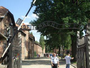 Work makes one free sign - Auschwitz Visit