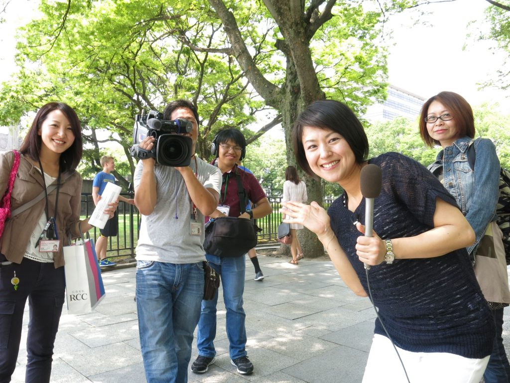 Just your average day..being interviewed on Japanese TV.