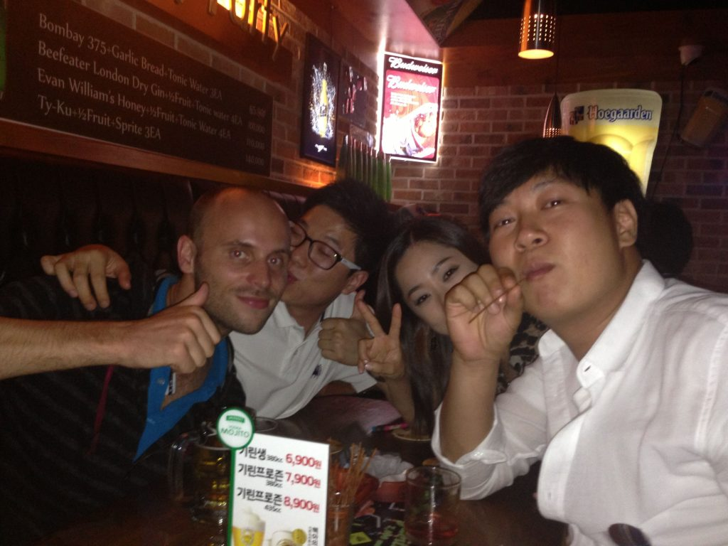 The only three friendly South Koreans in the whole of South Korea. As rare as unicorns. Loved these guys.