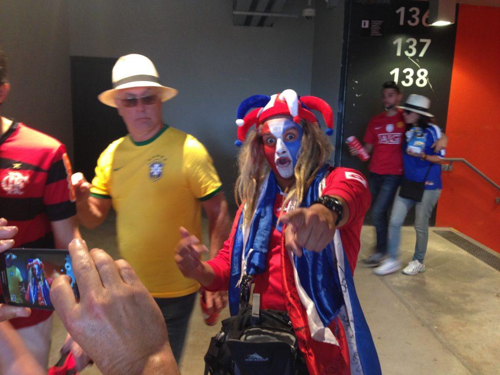 Crazy Costa Rica fan.