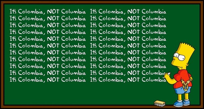 colOmbia spelling