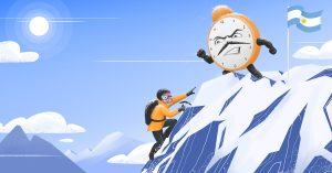 Illustration to climb the tallest mountain with oclock 1200x628