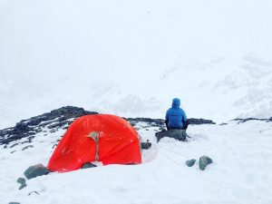 Aconcagua summit failure at Camp Canada 3