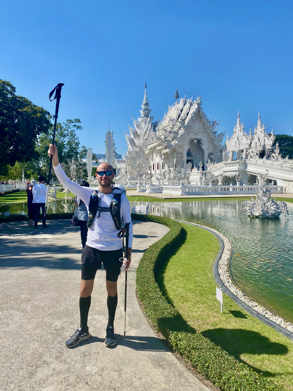 Wat Rong Khun, also known as The White Temple in Chiang Rai