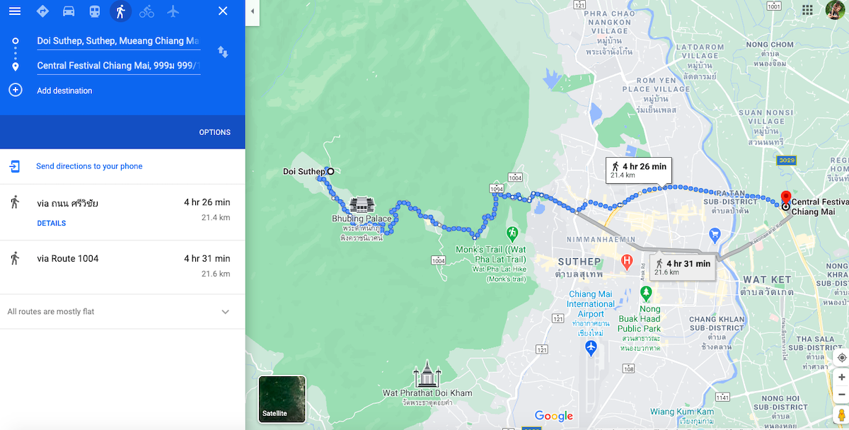 First 25km to Central Festival Chiang Mai