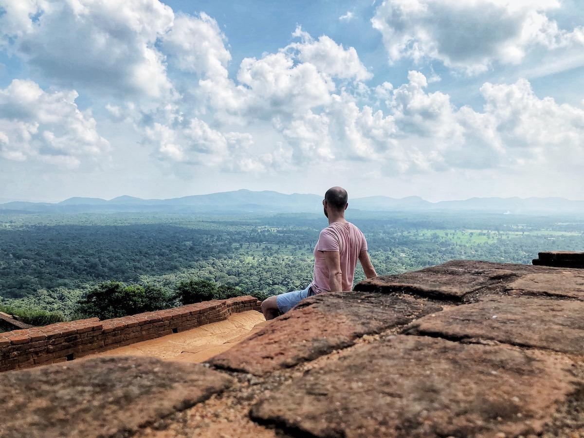 Sri Lanka Itinerary - tourist at Sigiriya